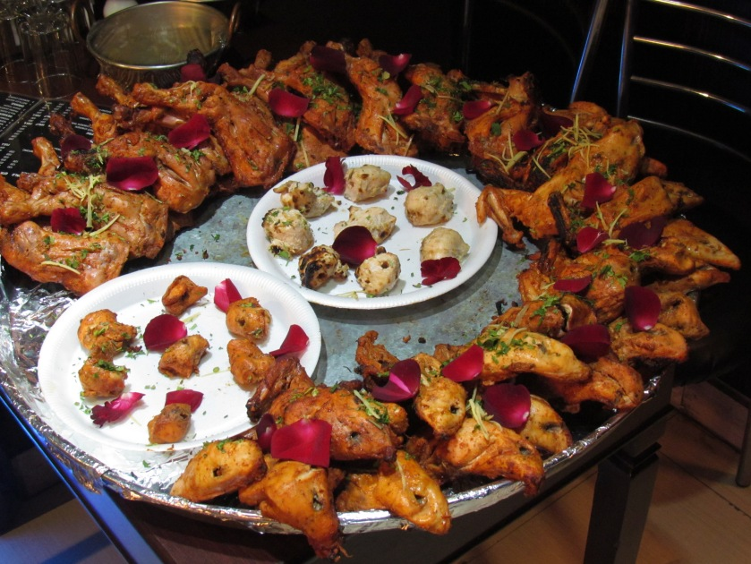Food display in old dilli style