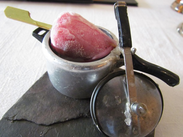 'ice stick' inside a miniature pressure cooker