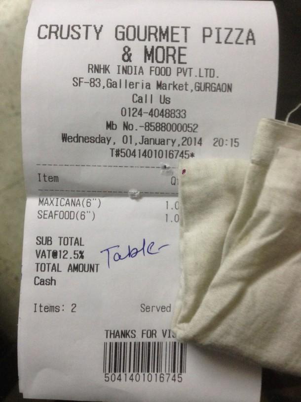 Our receipt 1