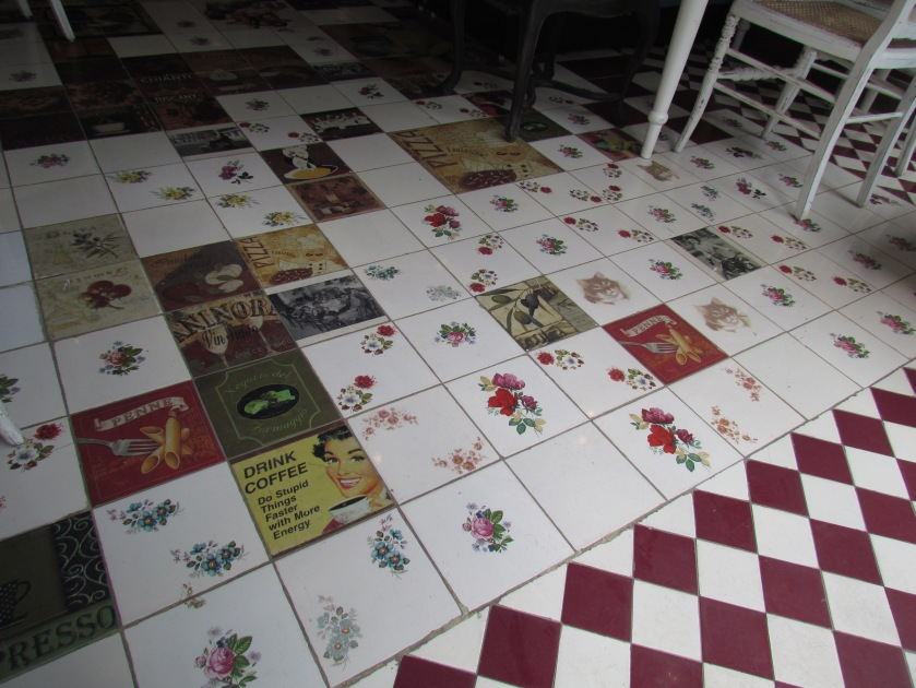 cool, retro , at times ornate floor tiles