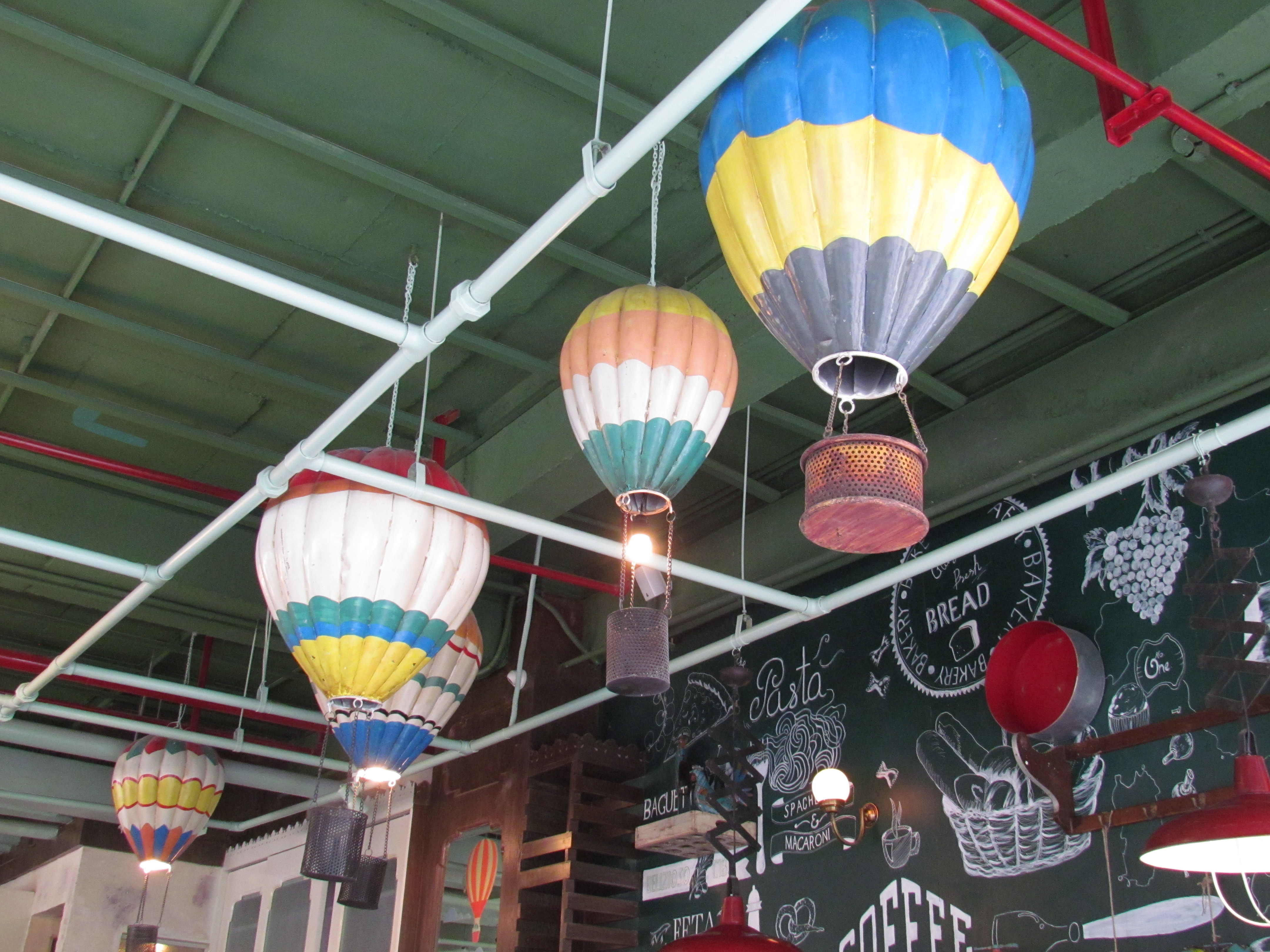 Olive bistro first floor cyber hub dlf cyber city gurgaon yummraj hot air balloon shaped lamp shades aloadofball Images