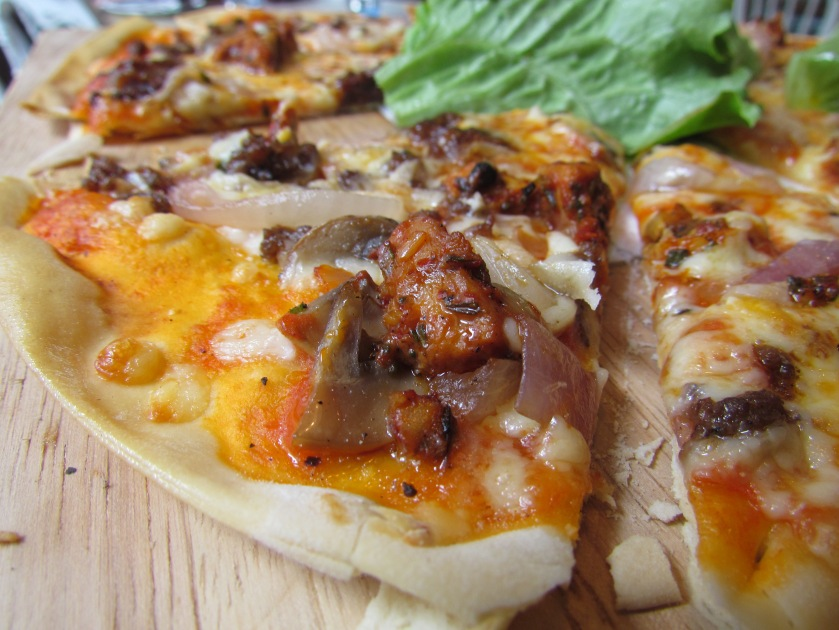 'Carnivore on a thin crust' Pizza