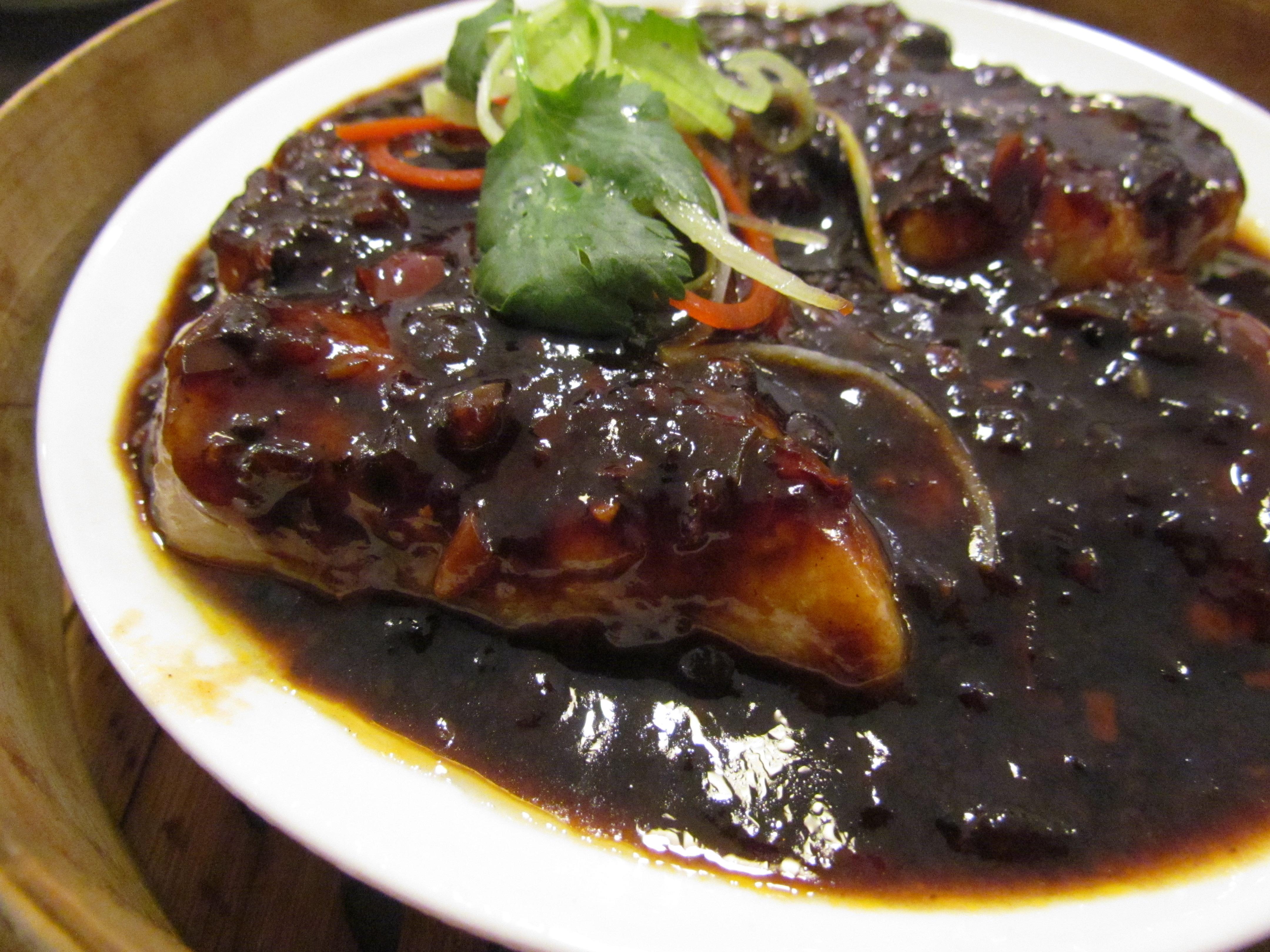 Yauatcha level 2 ambience mall vasant kunj new delhi for Fish in black bean sauce