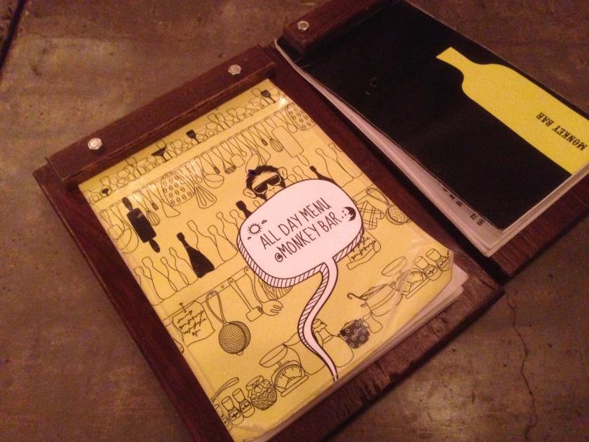 menu card