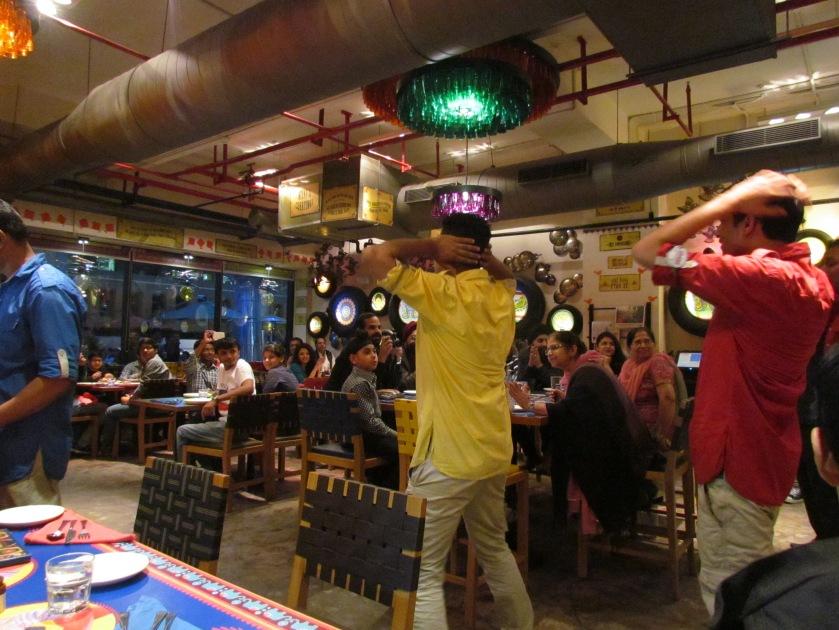 Staff members dancing to badtameez dil