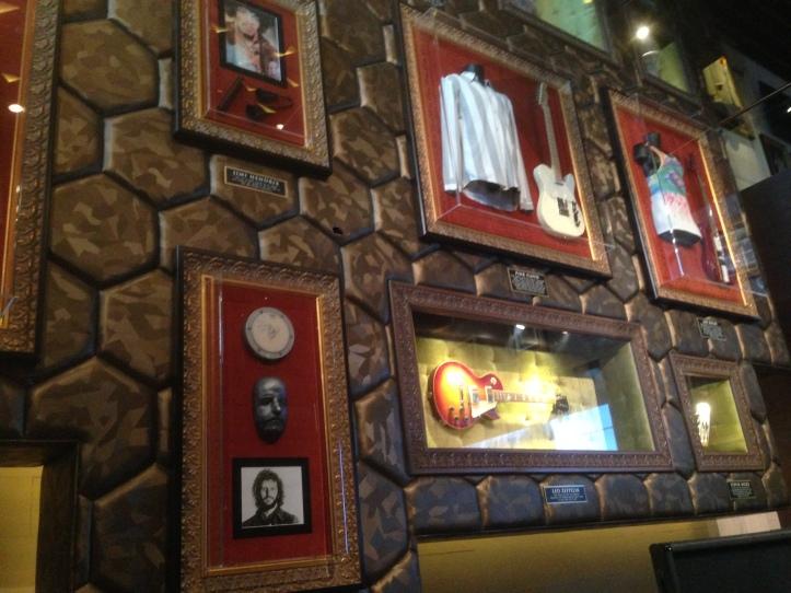 memorablia on the wall