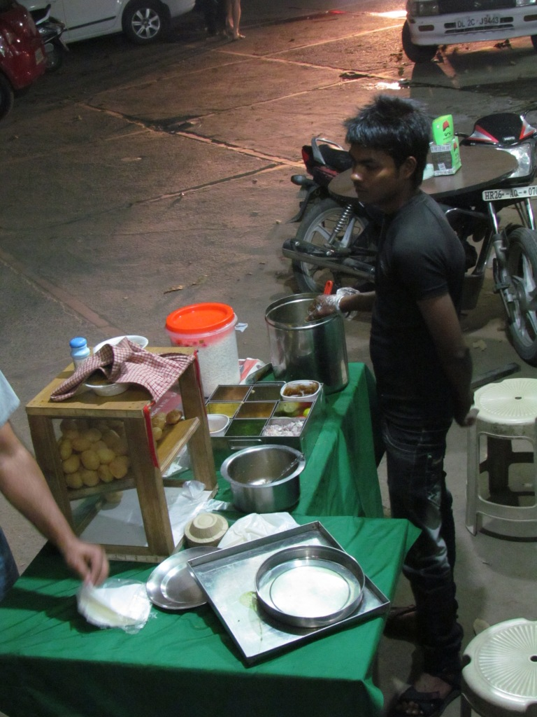 extension of the stall that serves golgappas and other snack items