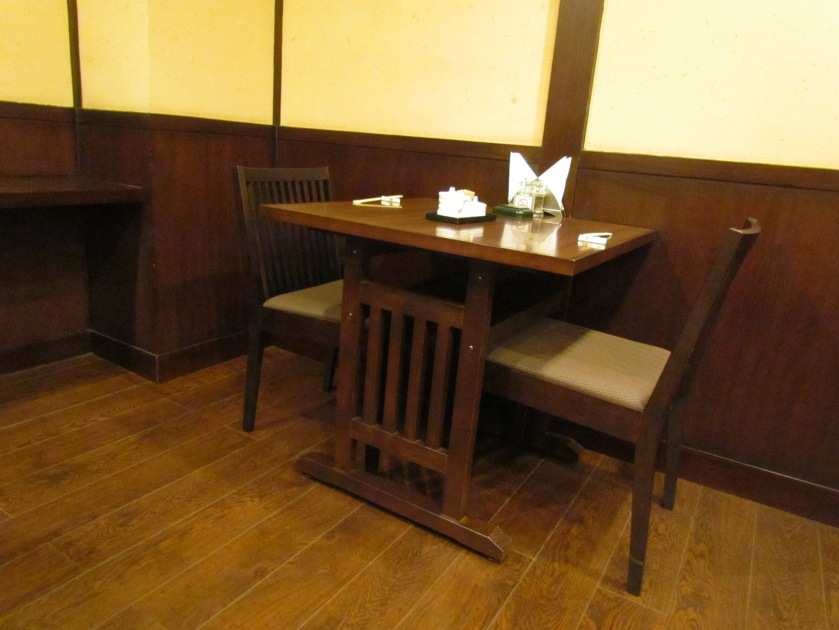 wooden flooring & simple wooden furniture