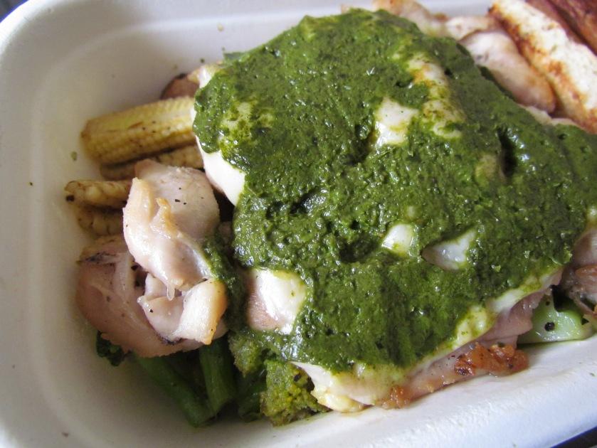 close up of Grilled Chicken Pesto