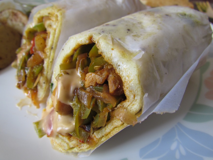Mexican Chicken omelette wrap