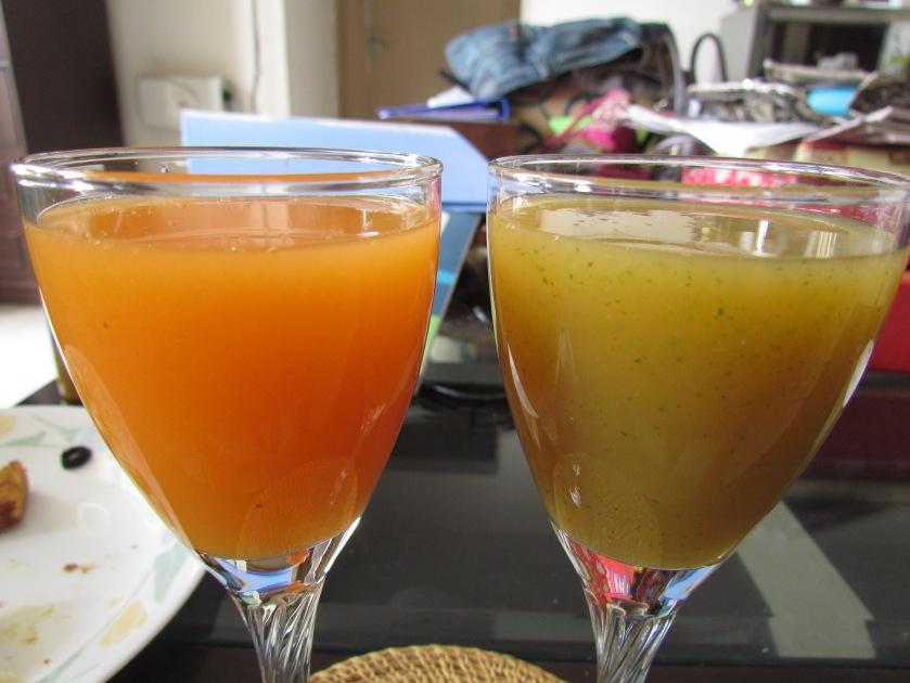 Citrus cooler & apple ginger