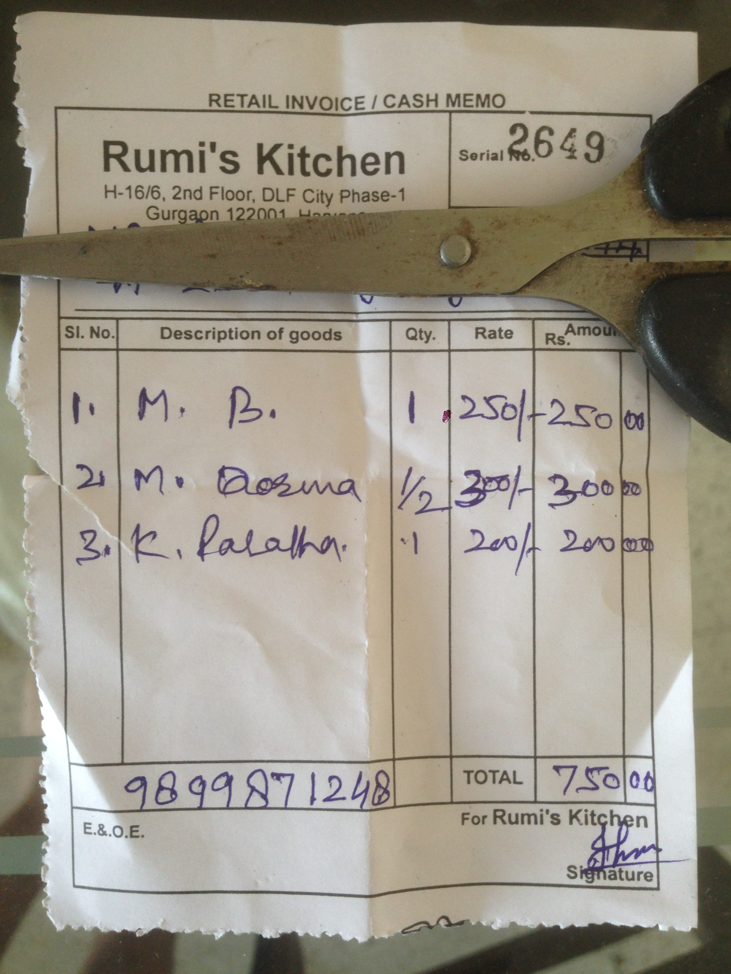 Rumi S Kitchen Menu