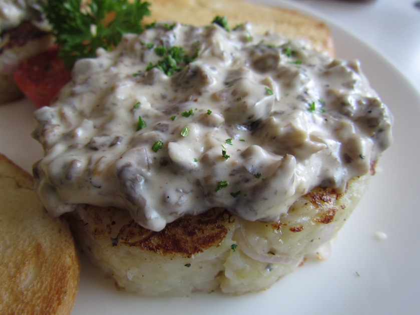 Potato rosti with Mushroom ragouts