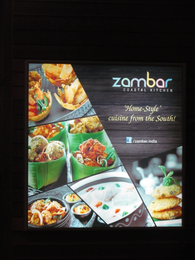 an advertisement outside the restaurant
