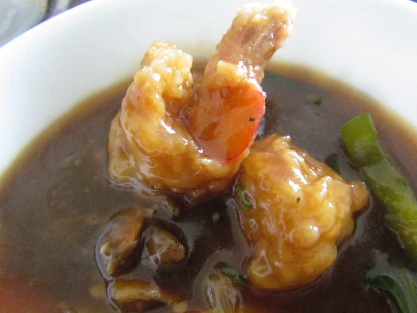 Prawn in oyster sauce