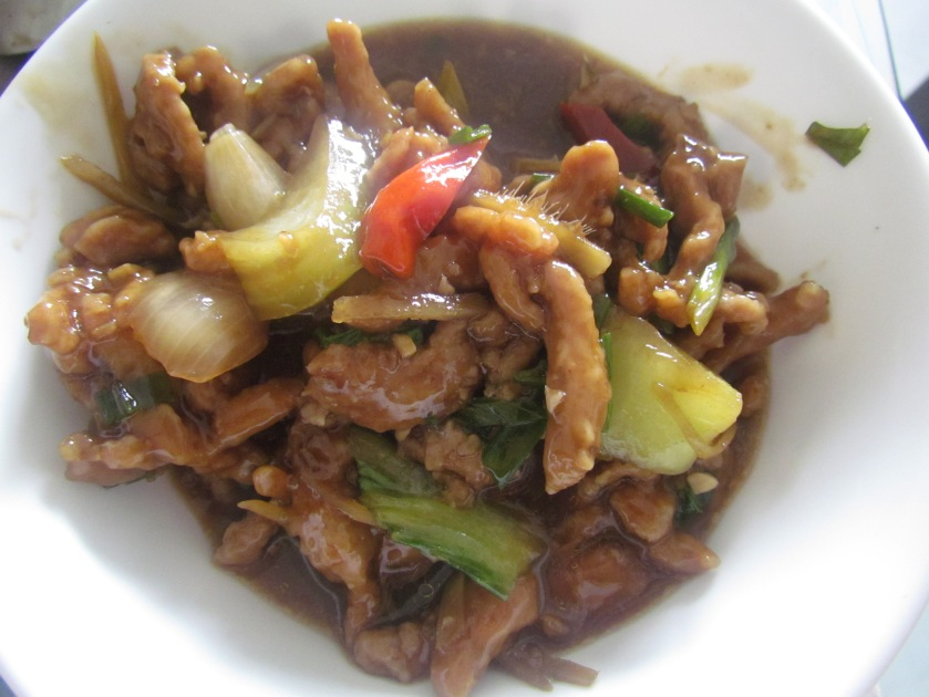 Lamb in chilly wine sauce