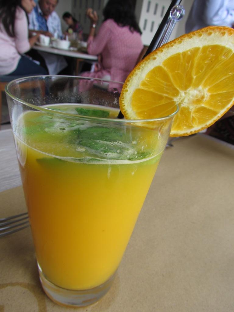 Fresh orange & basil blast