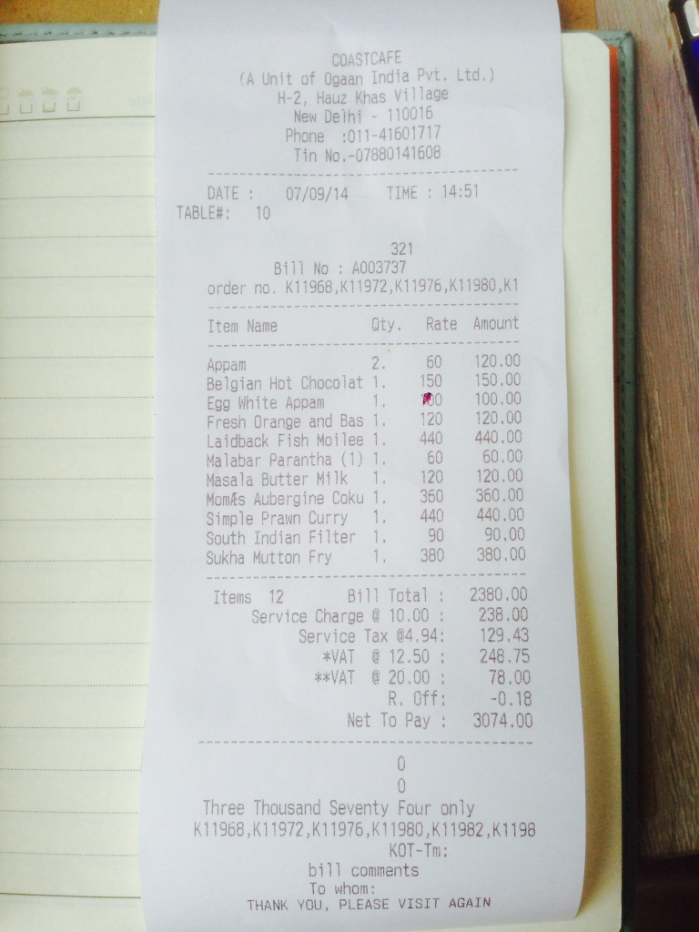 receipt -proof of payment