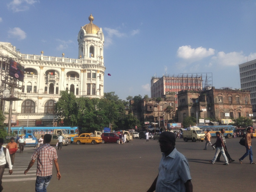 crossing of SN Banerjee road and JL Nehru road - esplanade