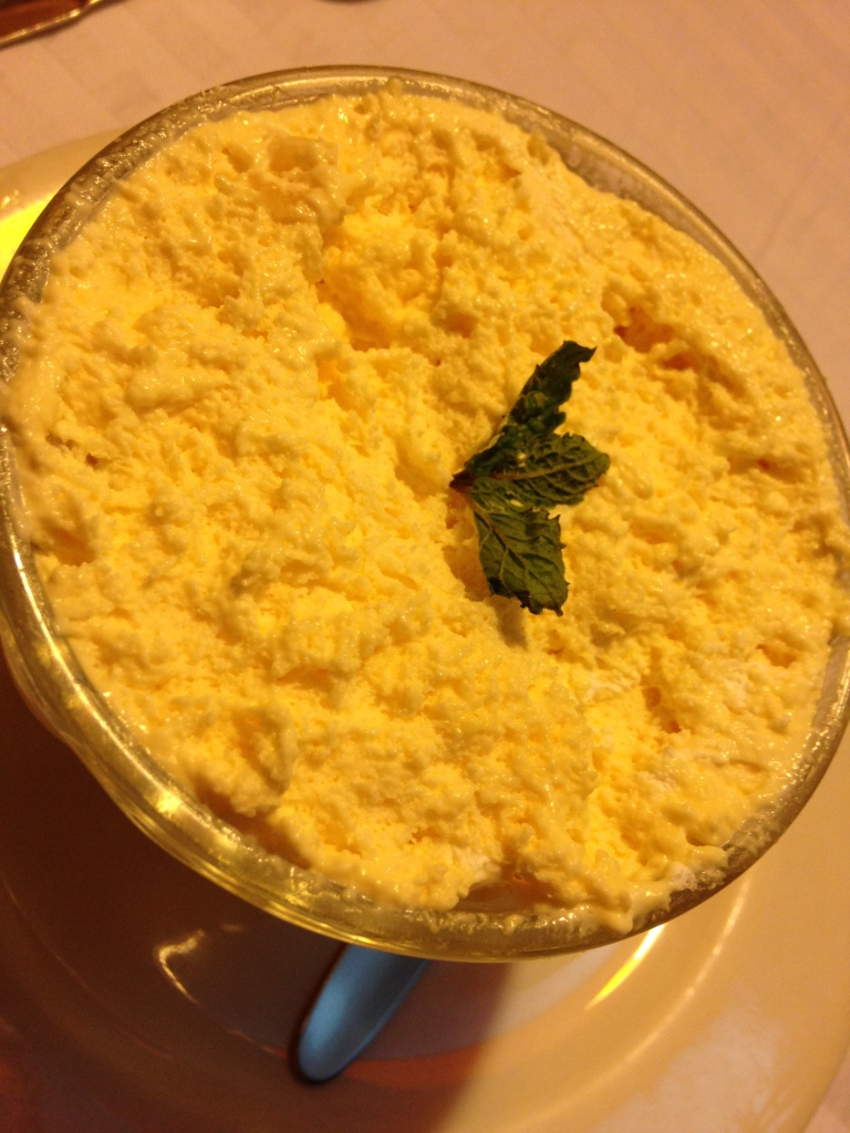 Pineapple soufflé