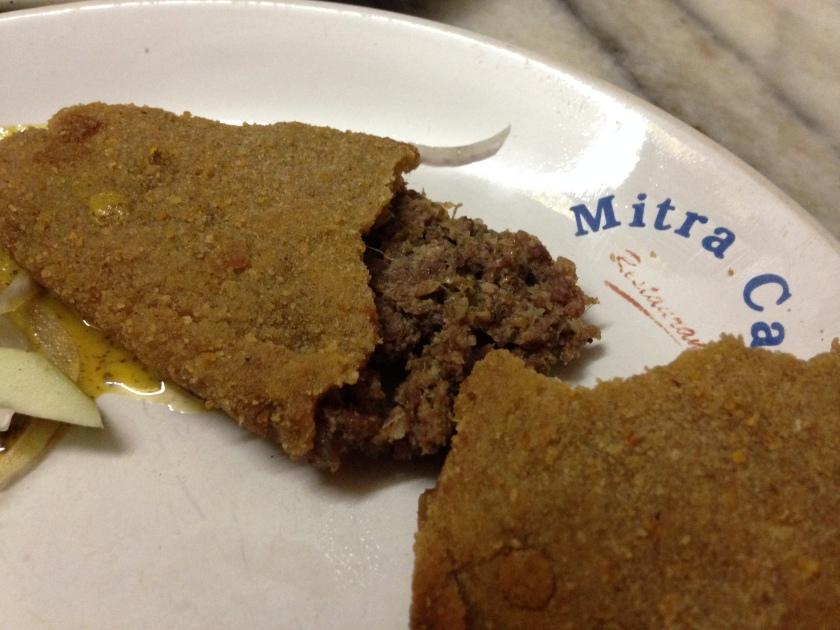 inside Mutton cutlet