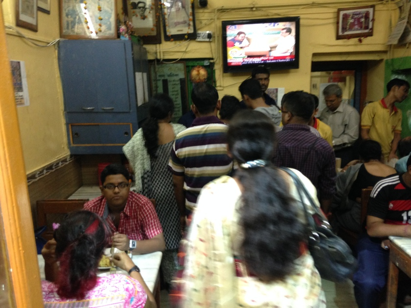 Queue inside the dining hall in evenings