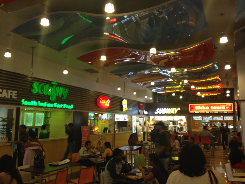 A glimpse of the food court