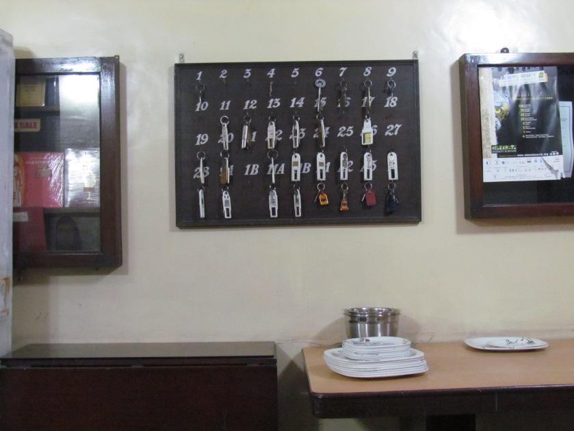 room keys hanging