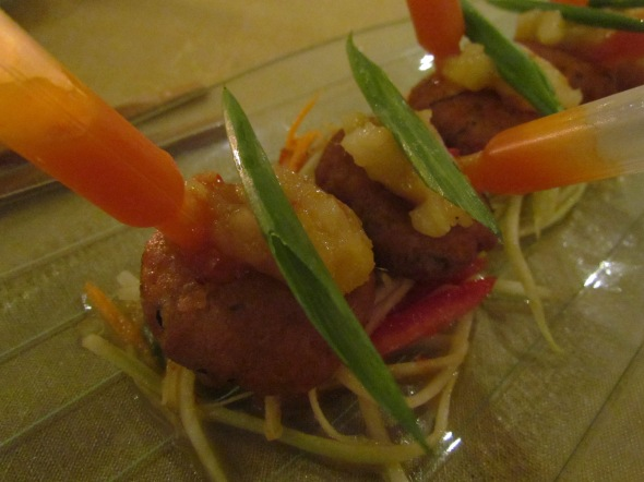 Thai fish cake spicy mango relish