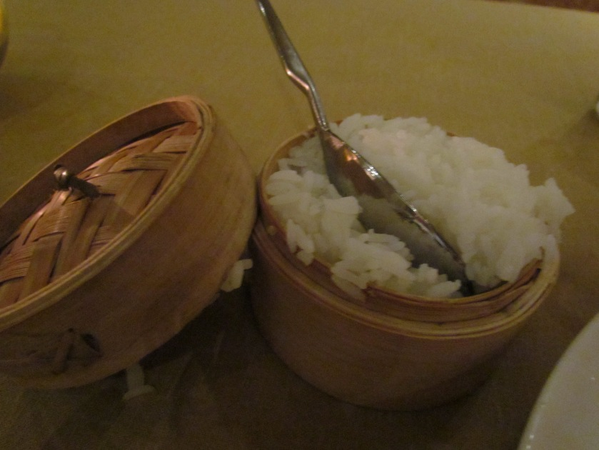 We were given a small complimentary sticky rice bowl.
