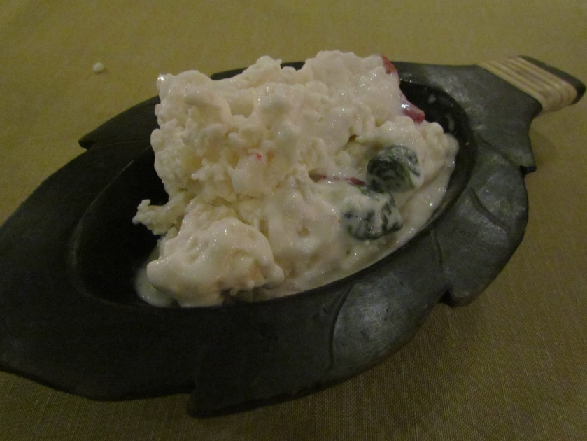 water chestnut & coconut ice cream