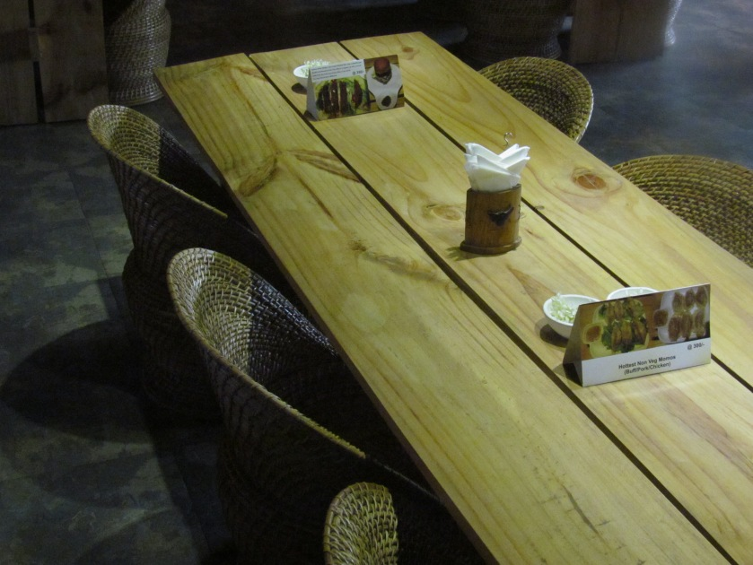 furniture in the dining hall