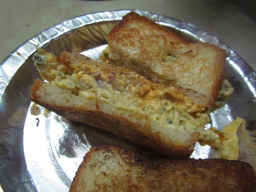 A peep inside cream omelet
