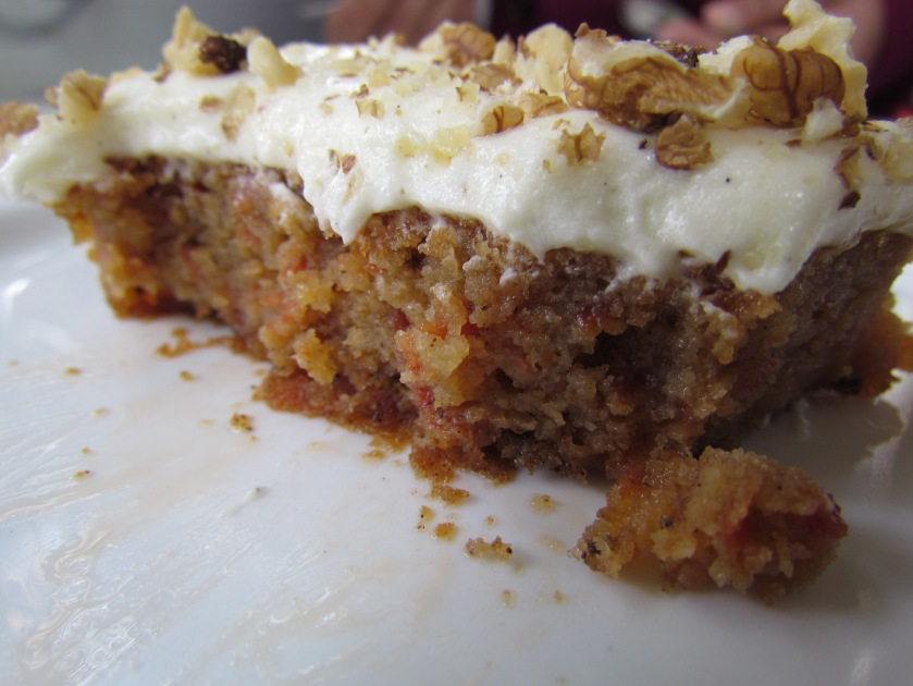 cross section of 'home made' Carrot cake