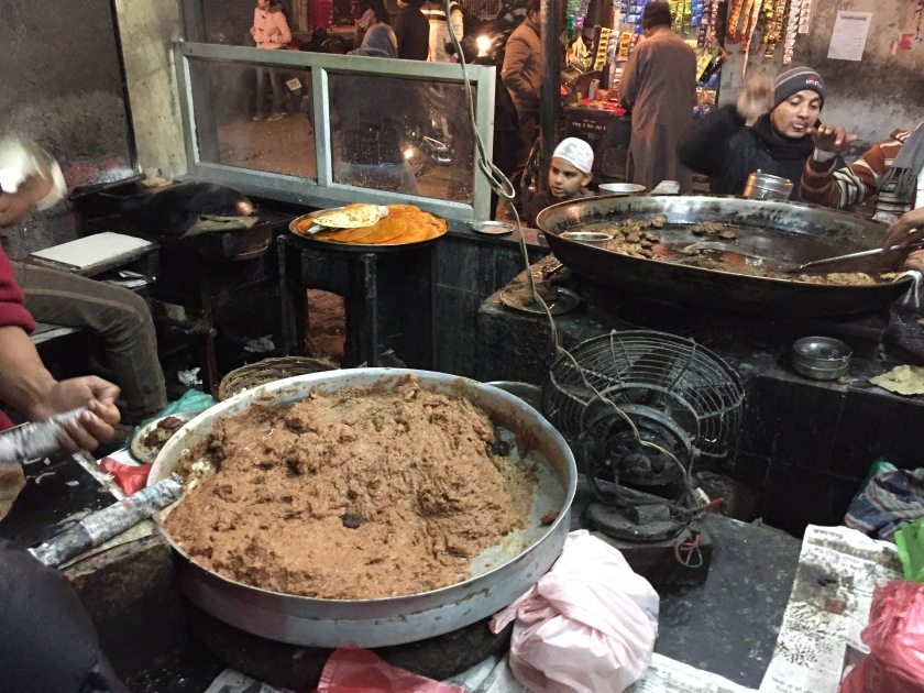 the meat paste that was being made into kabab