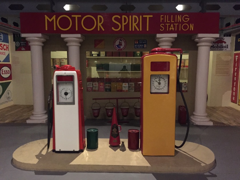 retro petrol filling station