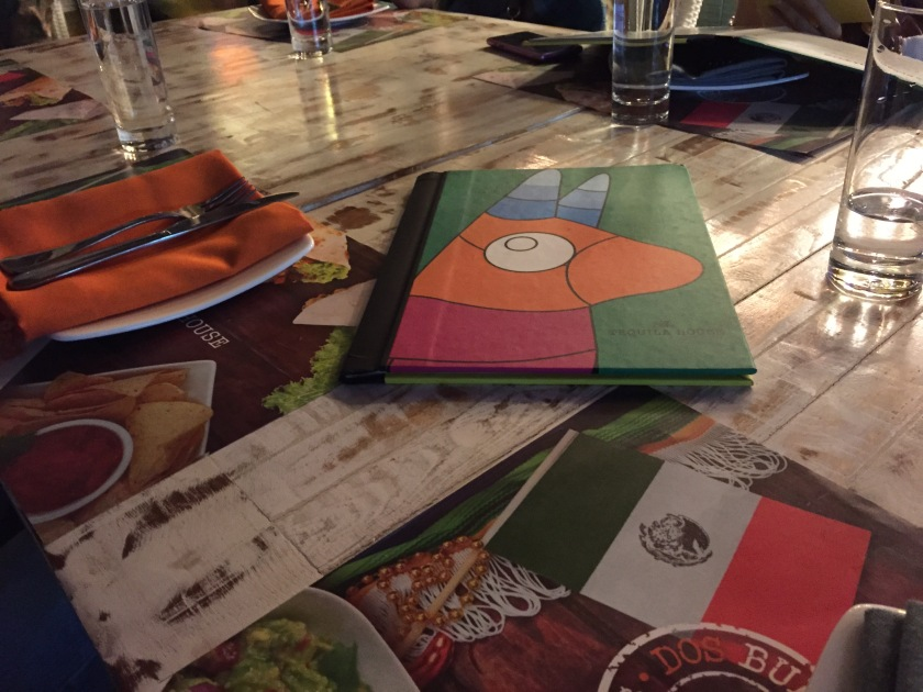 colorful menu card, table mats etc