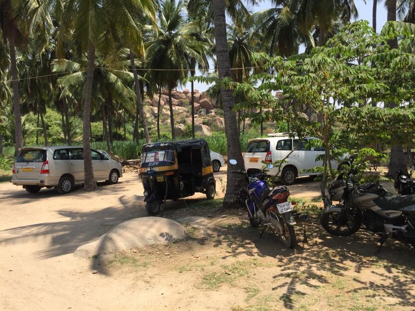 cars & autos parked inside the premises