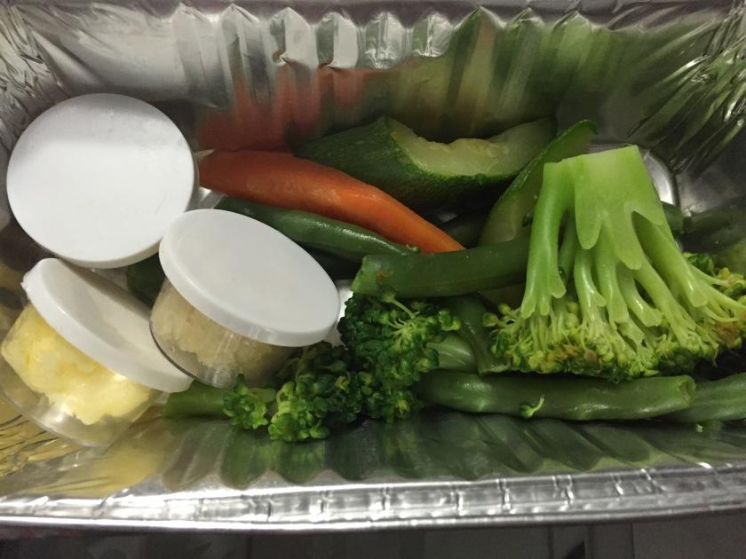 veggies cleaned & cut - in the box