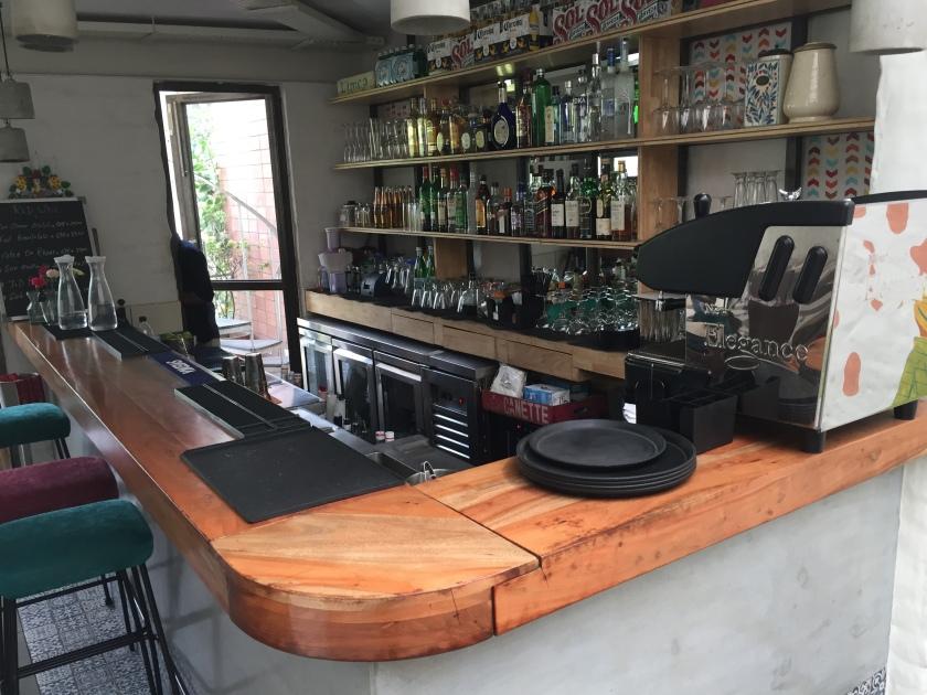 bar on second floor