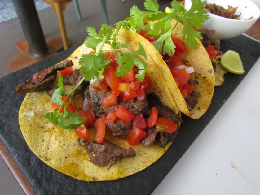 Arrachera juicy beef marinated with peppers