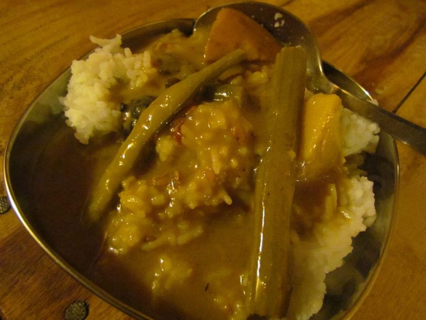 Sindhi kadhi & rice