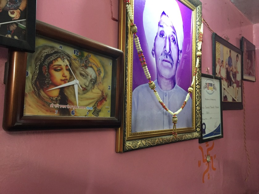 picture of the founder on the wall.