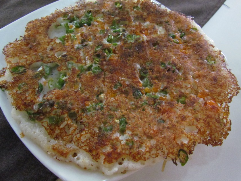 Mixed vegetable uttapam