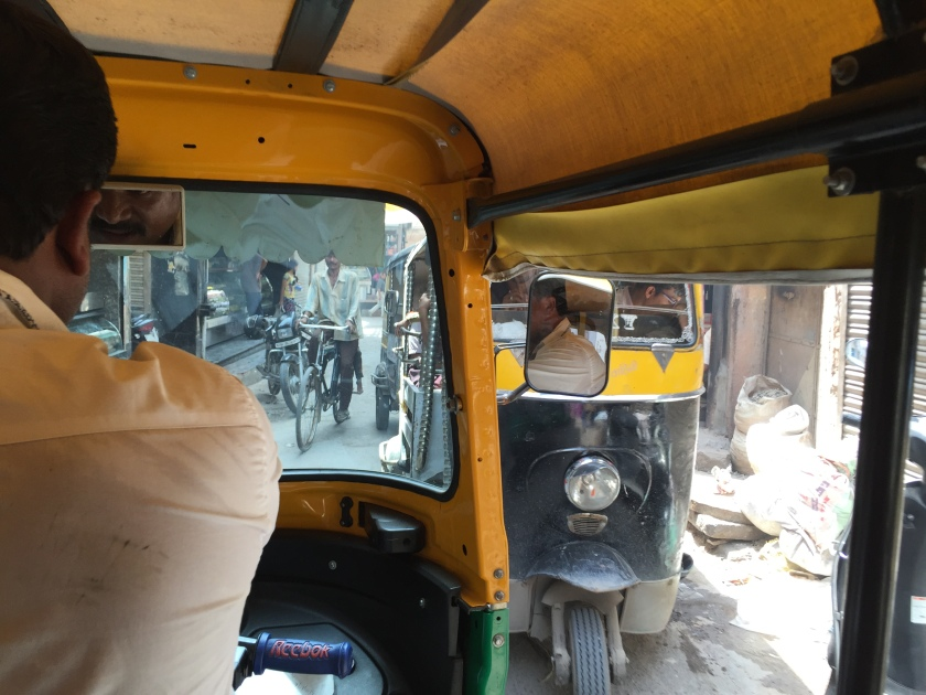 The auto rikshaw ride to the shop