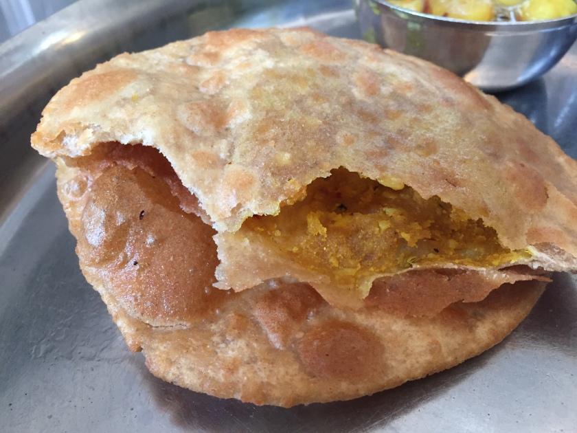 a peep inside Masala poori