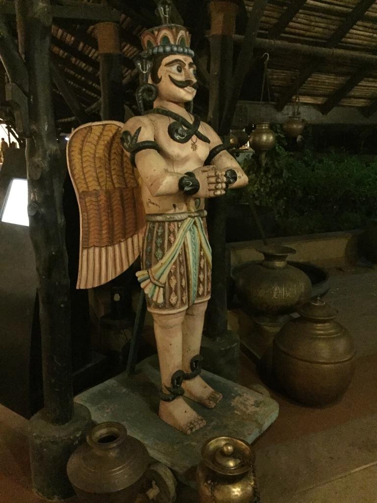 a wooden idol