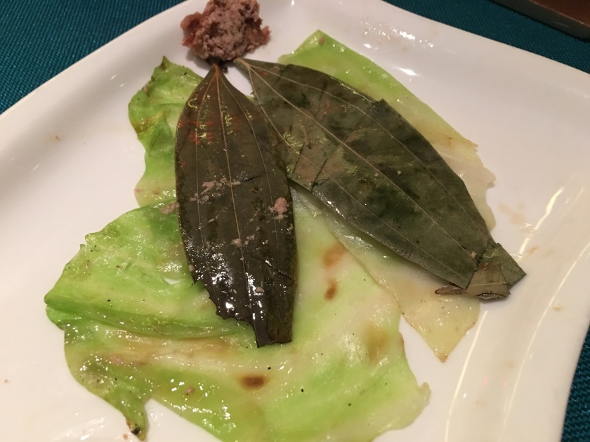 bay leaves & cabbage