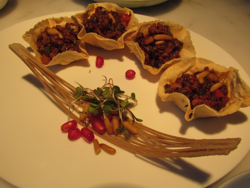 lamb with vegetable and pinenuts