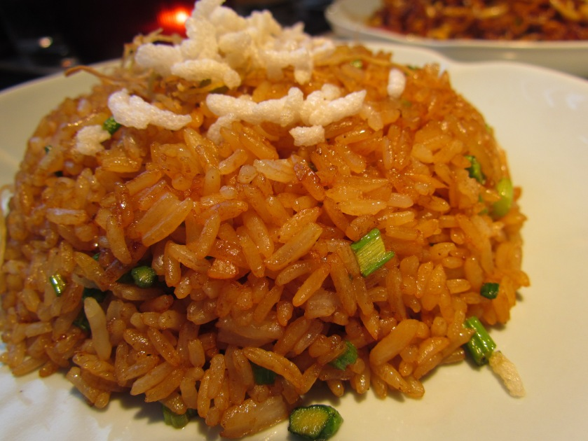 ginger fried rice made from crispy jasmine rice